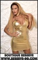 Рокля Disco Gold