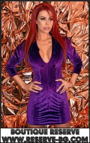 Рокля Purple Velvet